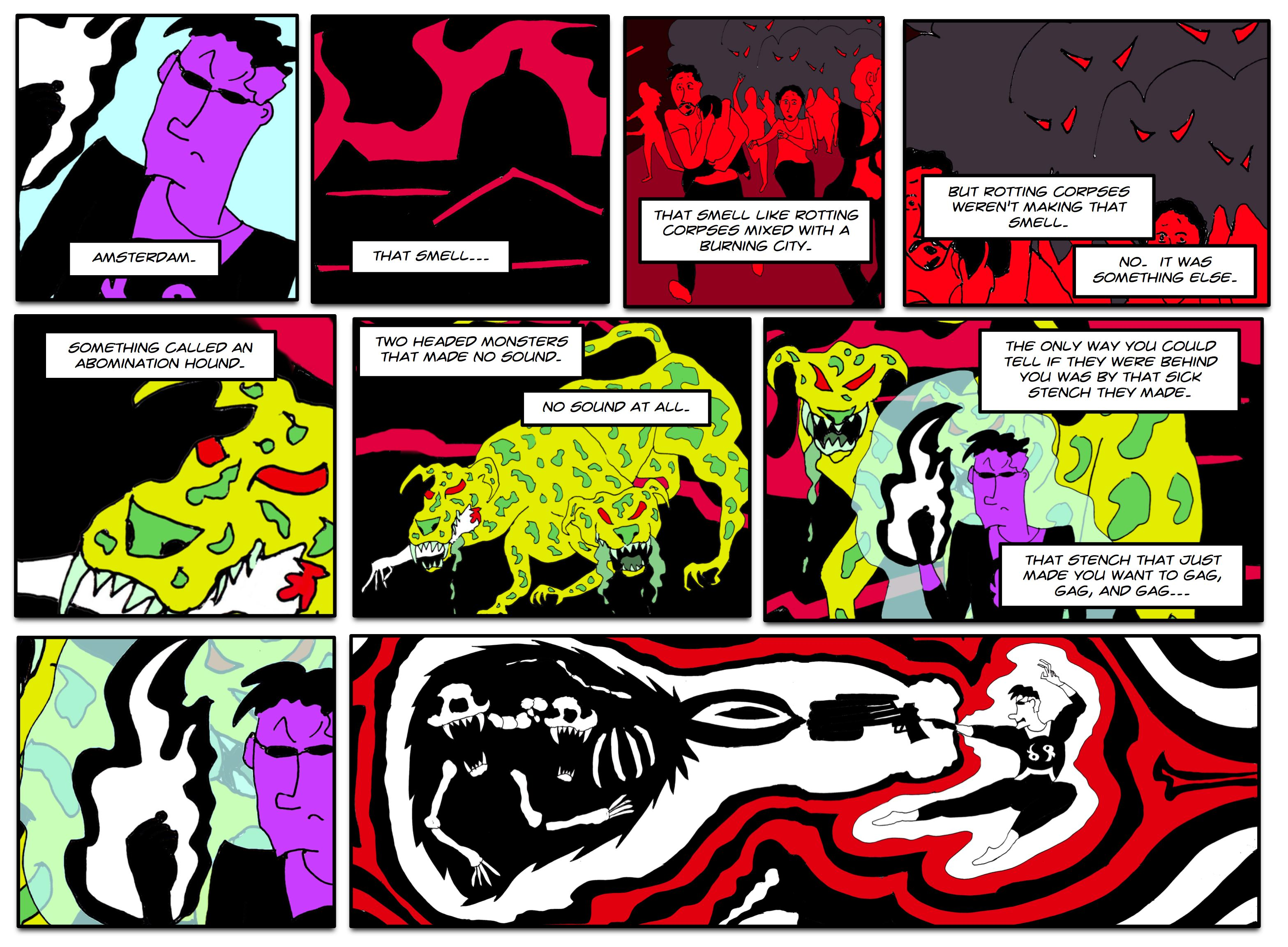 No real Abomination Hounds were hurt in this comic.