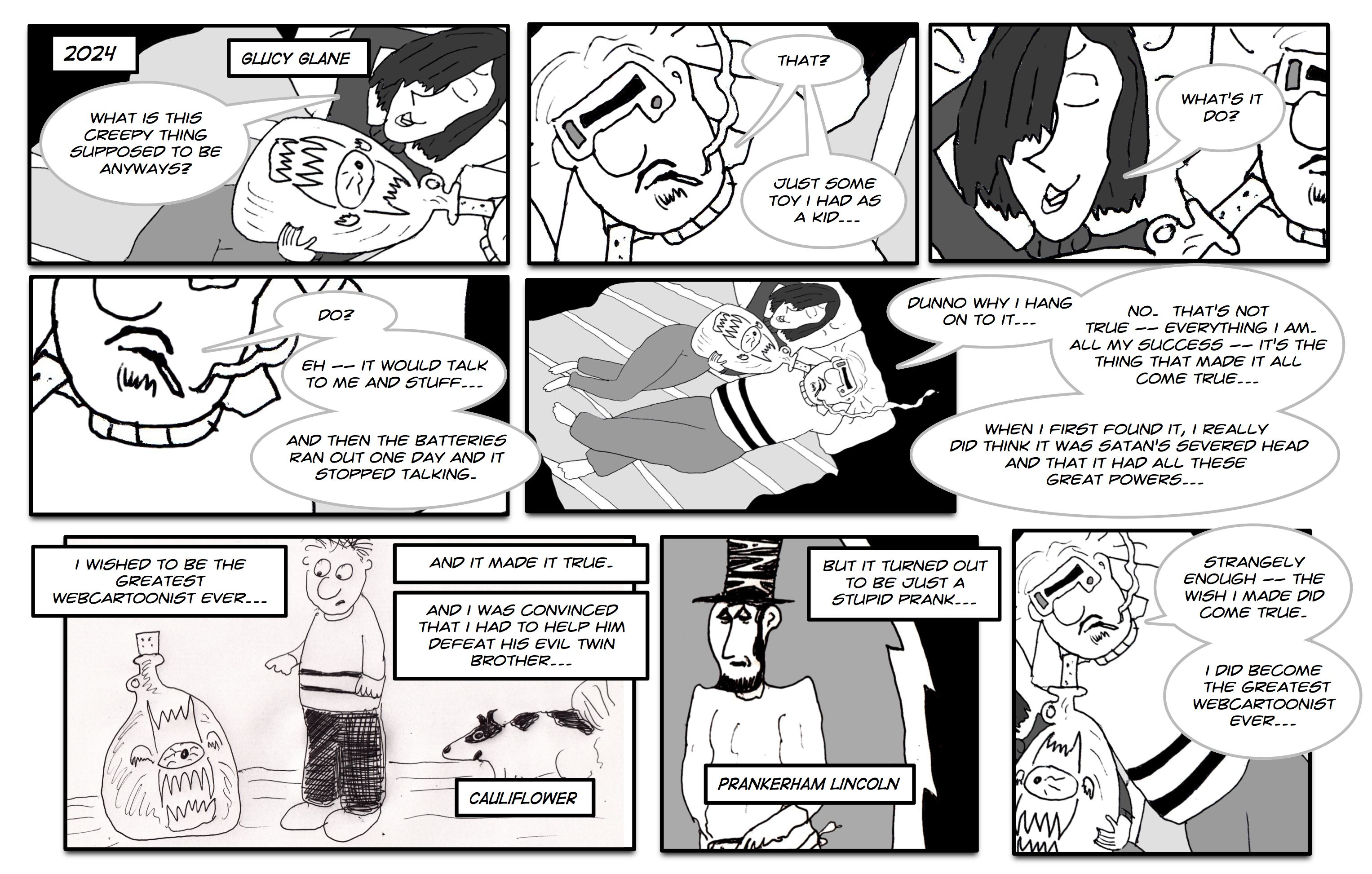 A webcomic about how thrilling the life of hover texts is... the truth?  Or the Greatest Truth?